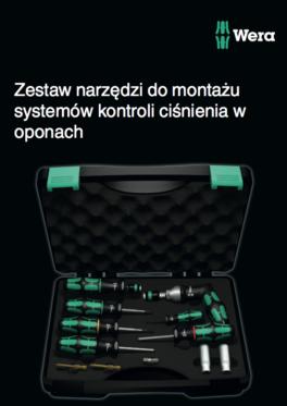 Zestaw narzędzi do montażu systemów kontroli ciśnienia w oponach