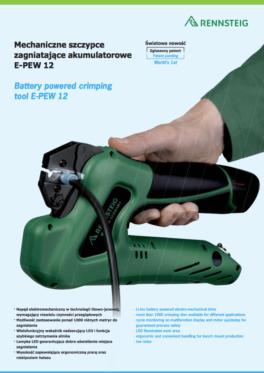 Mechaniczne szczypce zagniatające ePEW12